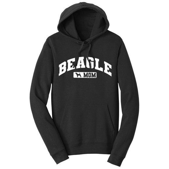 Parker Paws Store - Beagle Mom - Sport Arch - Adult Unisex Hoodie Sweatshirt