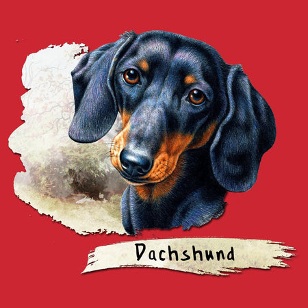 Dachshund Face Art - Adult Unisex T-Shirt