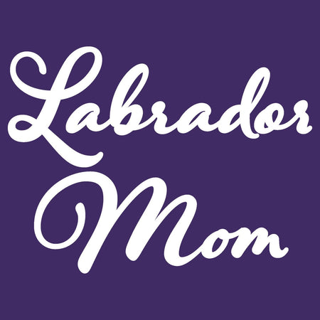 Labrador Mom - Script - Women's Fitted T-Shirt