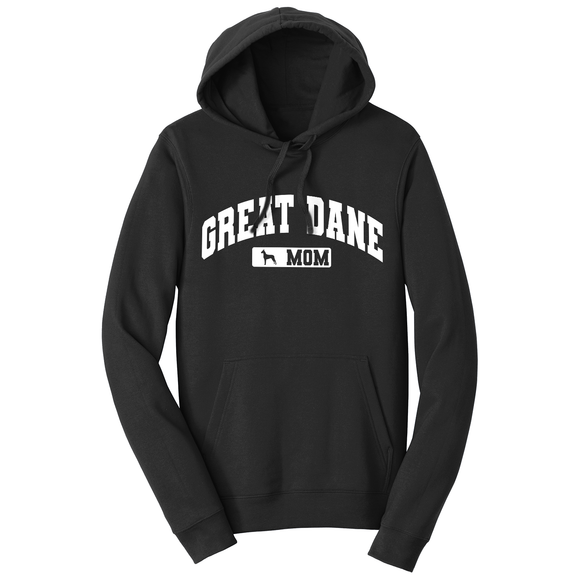 Parker Paws Store - Great Dane Mom - Sport Arch - Adult Unisex Hoodie Sweatshirt