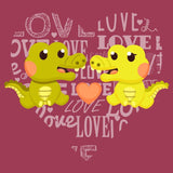 Love Heart Alligators - Adult Unisex T-Shirt