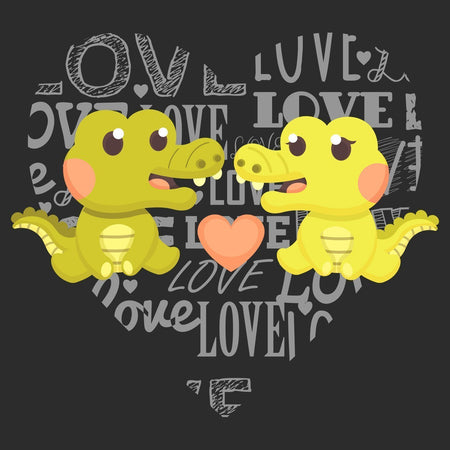Love Heart Alligators - Kids' Unisex Hoodie Sweatshirt