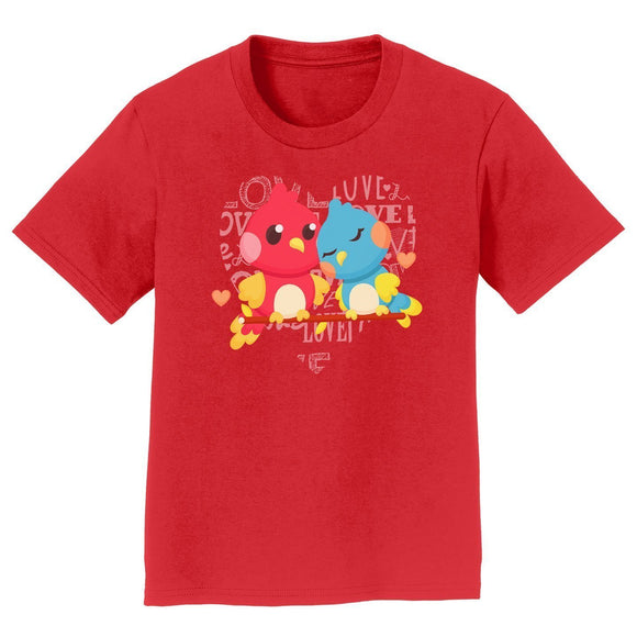 Love Heart Birds - Kids' Unisex T-Shirt