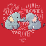 Love Heart Elephants - Kids' Unisex T-Shirt