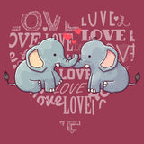 Love Heart Elephants - Adult Unisex Hoodie Sweatshirt