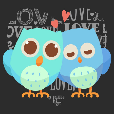 Love Heart Owls - Kids' Unisex Hoodie Sweatshirt
