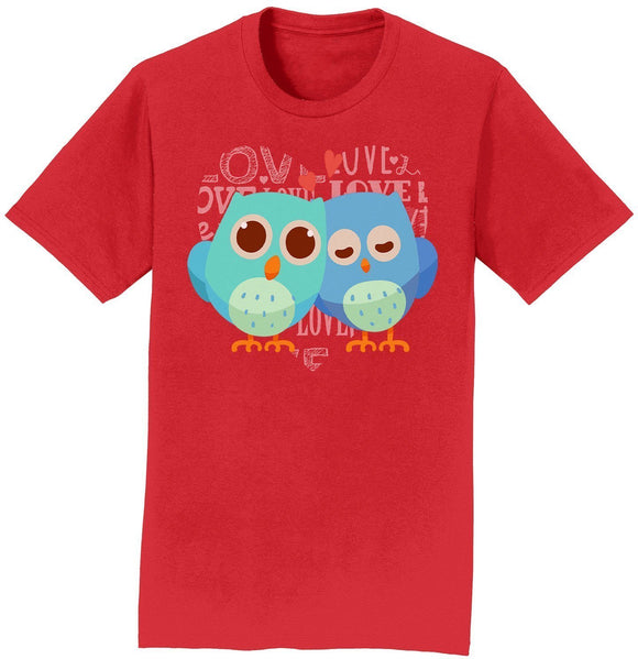 Love Heart Owls - Adult Unisex T-Shirt