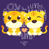 Love Heart Tigers - Women's Fitted T-Shirt