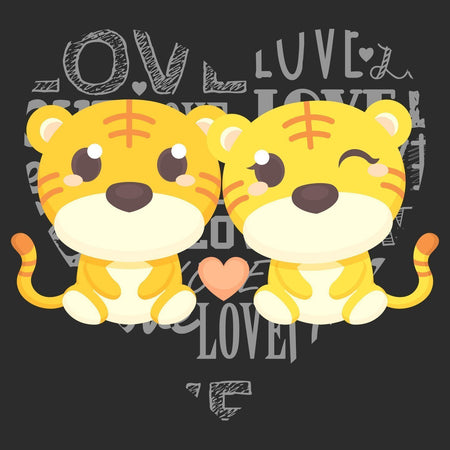Love Heart Tigers - Kids' Unisex Hoodie Sweatshirt