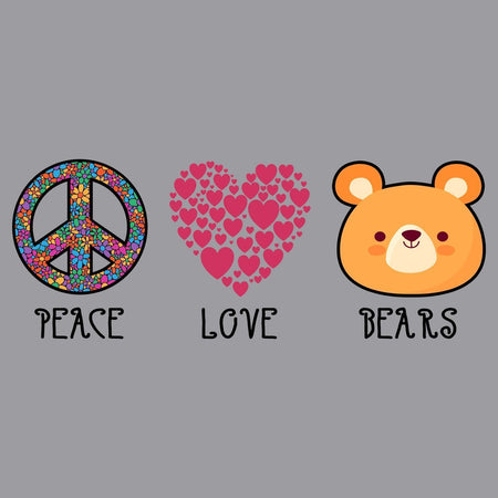 Peace Love Bears - Kids' Unisex T-Shirt
