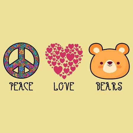 Peace Love Bears - Adult Unisex T-Shirt
