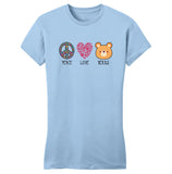 Peace Love Bears - Women's Fitted T-Shirt