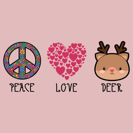 Peace Love Deer - Women's Fitted T-Shirt