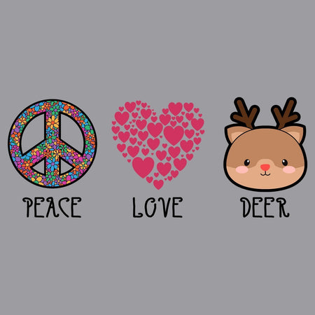 Peace Love Deer - Adult Unisex T-Shirt