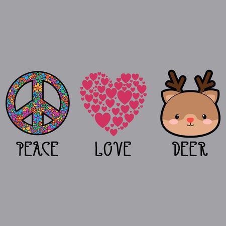 Peace Love Deer - Adult Unisex Hoodie Sweatshirt