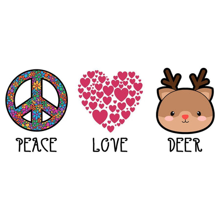Peace Love Deer - Adult Unisex Long Sleeve T-Shirt
