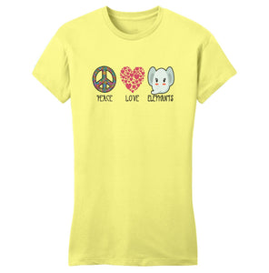 International Elephant Foundation - Peace Love Elephants - Women's Fitted T-Shirt