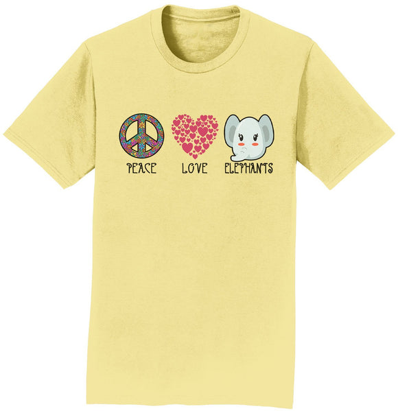 International Elephant Foundation - Peace Love Elephants - Adult Unisex T-Shirt