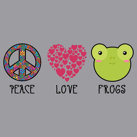 Peace Love Frogs - Adult Unisex Long Sleeve T-Shirt