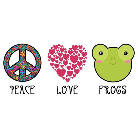 Peace Love Frogs - Women's Fitted T-Shirt