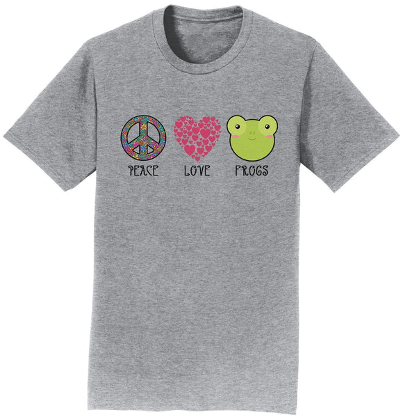 Peace Love Frogs - Adult Unisex T-Shirt