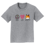 Peace Love Giraffes - Kids' Unisex T-Shirt