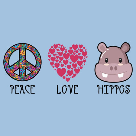 Peace Love Hippos - Women's Fitted T-Shirt