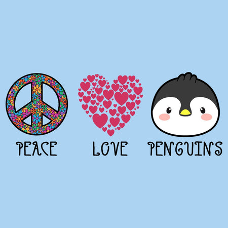 Peace Love Penguins - Adult Unisex T-Shirt