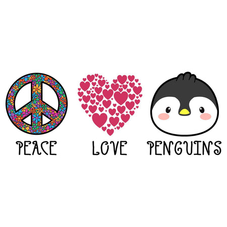 Peace Love Penguins - Women's Fitted T-Shirt