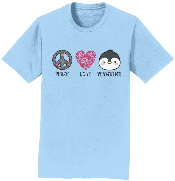 NEW Zoo & Adventure Park - Peace Love Penguins - Adult Unisex T-Shirt