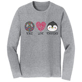 NEW Zoo & Adventure Park - Peace Love Penguins - Adult Unisex Long Sleeve T-Shirt