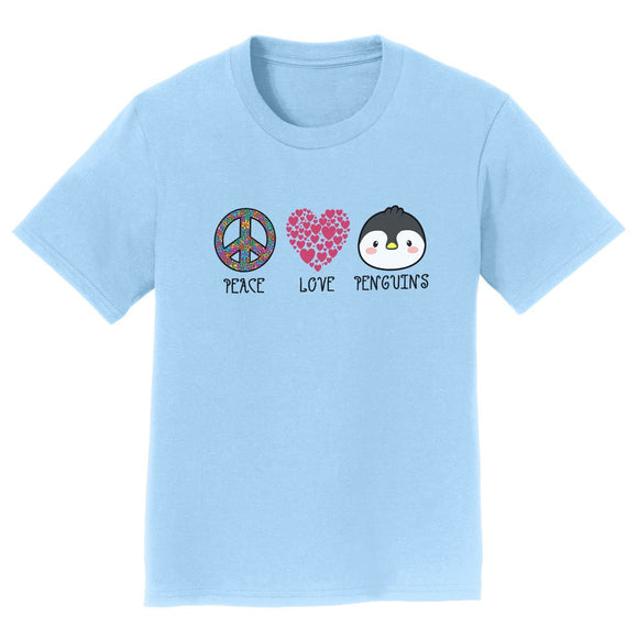 NEW Zoo & Adventure Park - Peace Love Penguins - Kids' Unisex T-Shirt