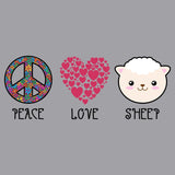 Peace Love Sheep - Kids' Unisex Hoodie Sweatshirt