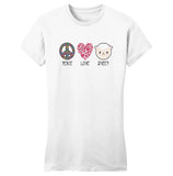 Peace Love Sheep - Women's Fitted T-Shirt