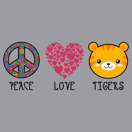 Peace Love Tigers - Adult Unisex Long Sleeve T-Shirt