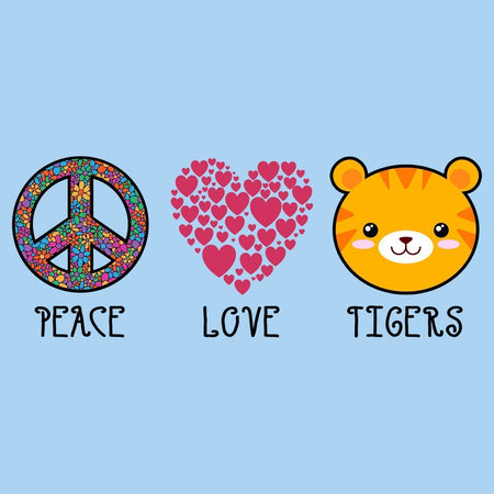 Peace Love Tigers - Kids' Unisex T-Shirt