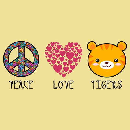 Peace Love Tigers - Adult Unisex T-Shirt