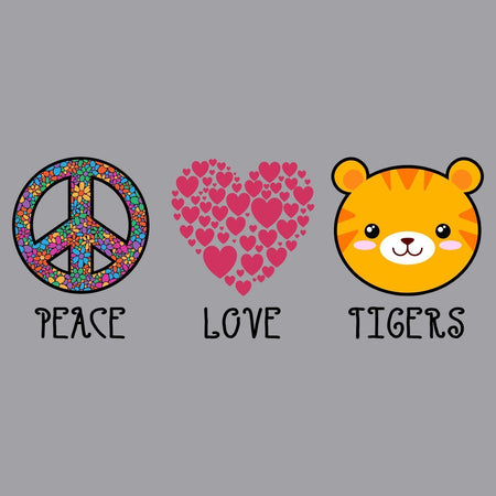Peace Love Tigers - Adult Unisex Hoodie Sweatshirt