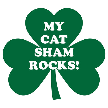 My Cat ShamRocks - Women's Fitted T-Shirt