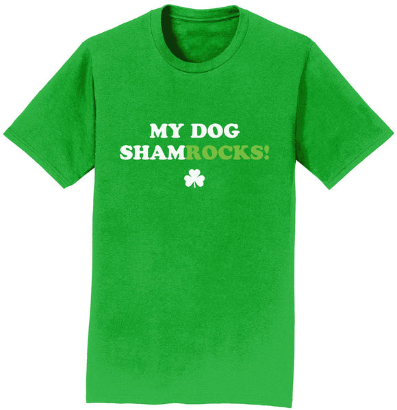 Parker Paws Store - My Dog ShamRocks - Text - T-Shirt