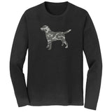 Labrador Silhouette Winter Camouflage - Adult Unisex Long Sleeve T-Shirt