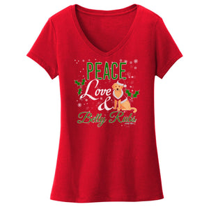 WCLRR - Peace Love and Belly Rubs - Women's V-Neck T-Shirt