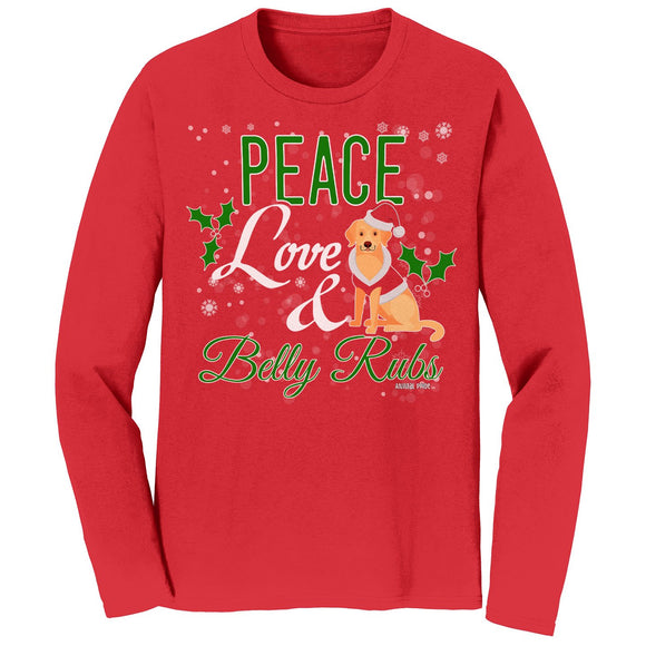 WCLRR - Peace Love and Belly Rubs - Adult Unisex Long Sleeve T-Shirt