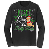 Peace Love and Belly Rubs - Adult Unisex Long Sleeve T-Shirt