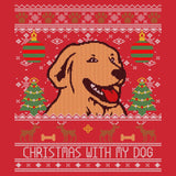 Ugly Sweater Christmas With My Dog - Adult Unisex Long Sleeve T-Shirt