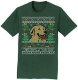 Ugly Sweater Christmas With My Dog - Adult Unisex T-Shirt