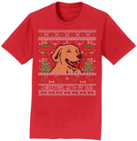 WCLRR - Ugly Sweater Christmas With My Dog - Adult Unisex T-Shirt