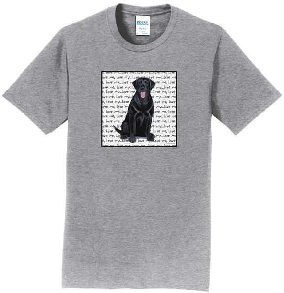 WCLRR - Black Lab Love Text - Adult Unisex T-Shirt