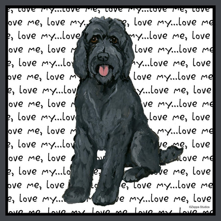 Black Labradoodle Love - Women's Fitted T-Shirt