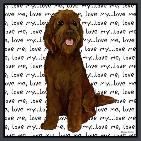Chocolate Labradoodle Love - Women's Fitted T-Shirt